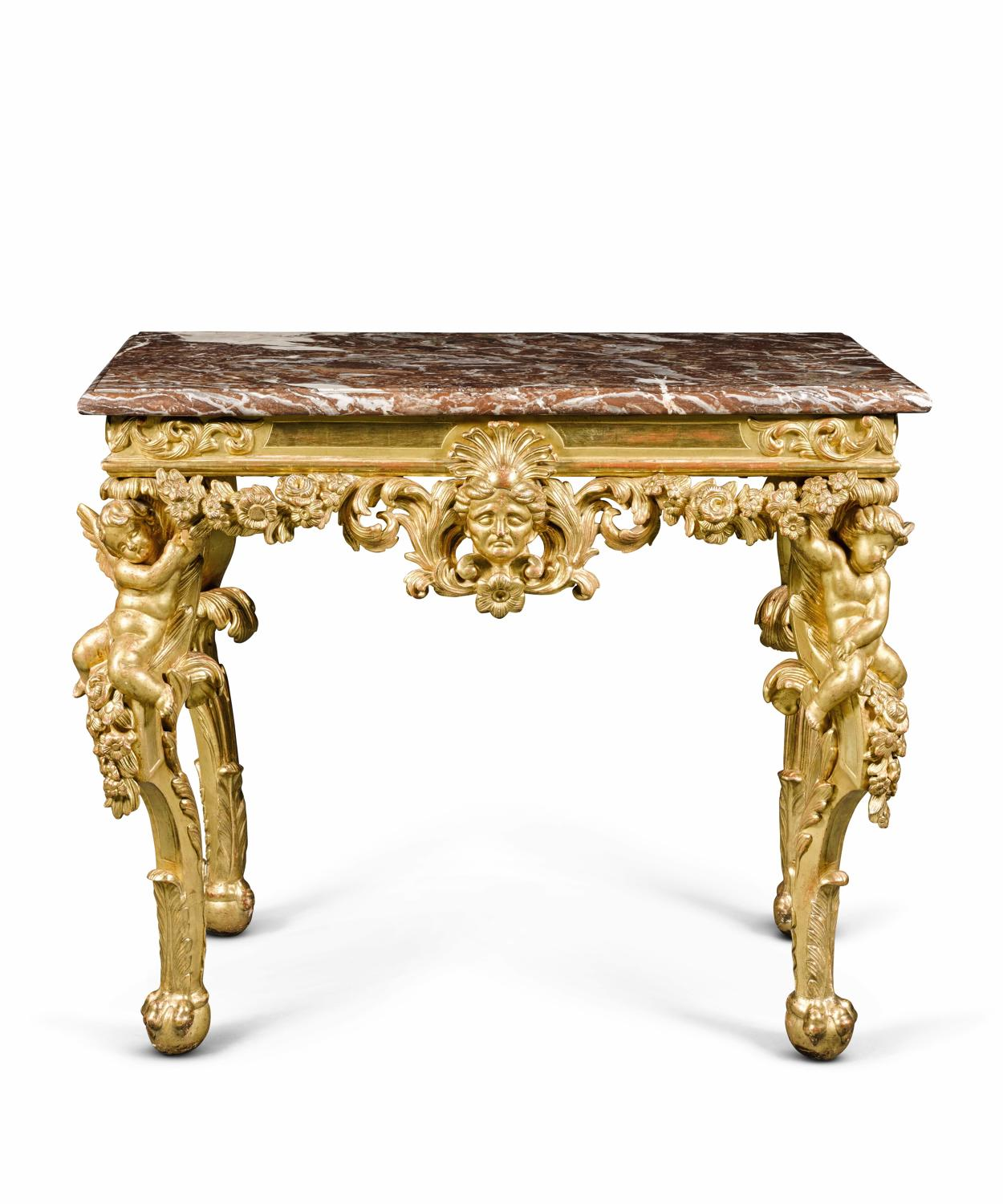 A Continental Giltwood Table,early 18TH Century