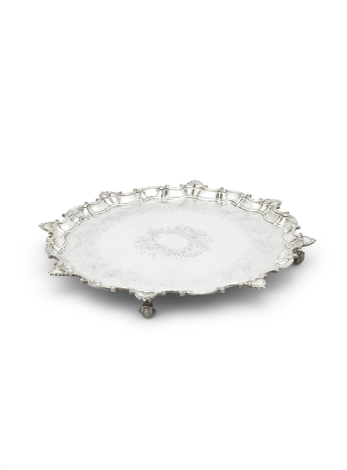 A Large George II silver Salver,London 1752