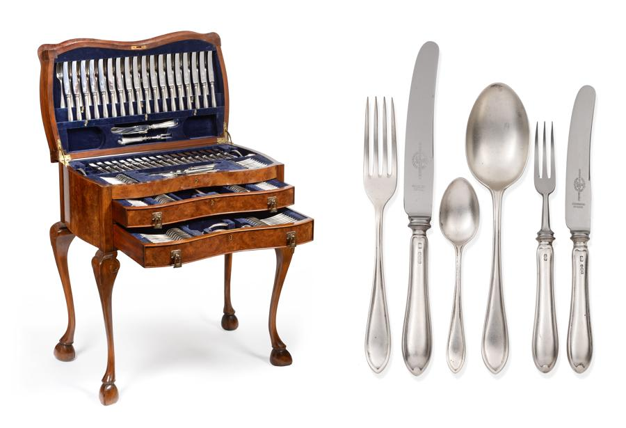 An Extensive Service of Silver Sandringham pattern Flatware