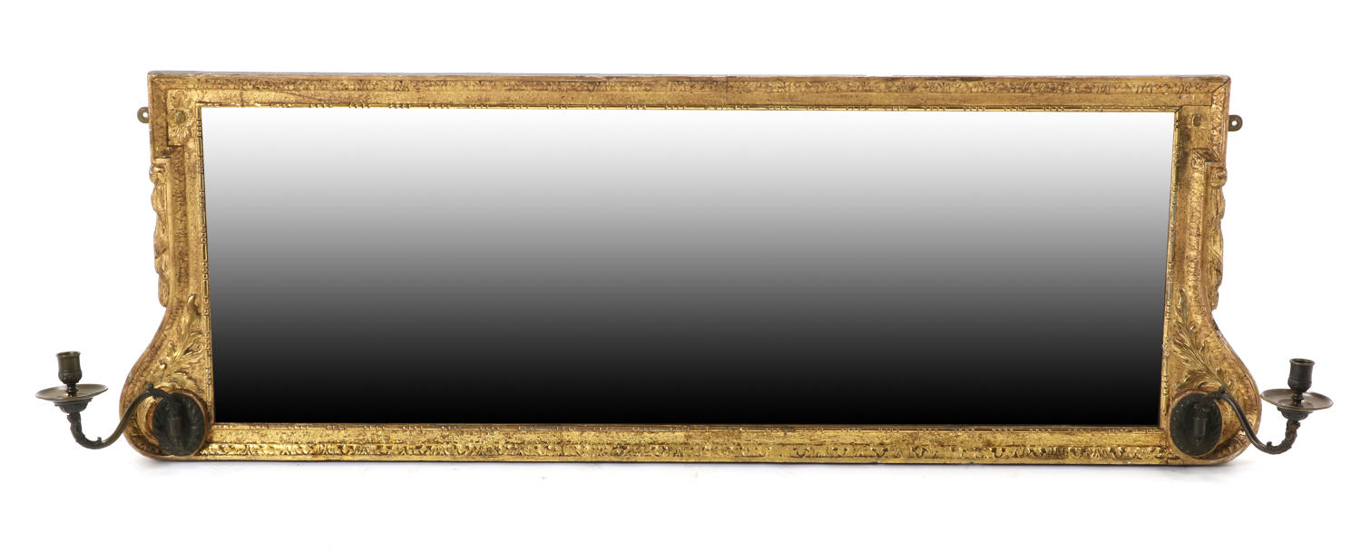 A Fine Gilded Triptych Overmantel mirror,18TH Century