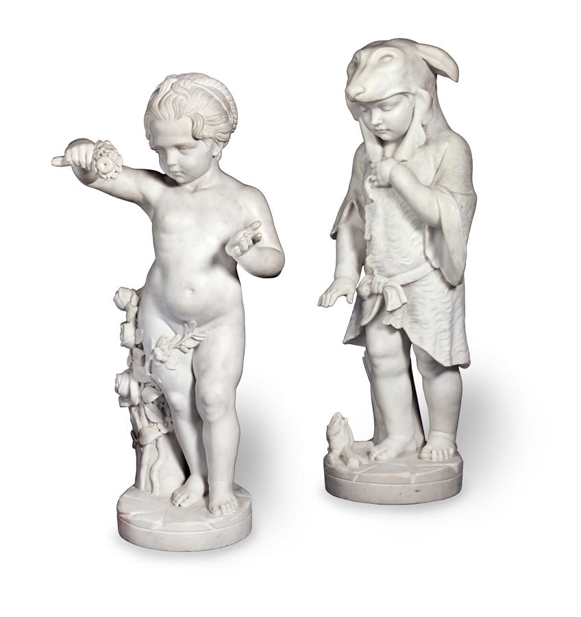A Fine pair of 19TH century Italian Marble Allegorical Figures