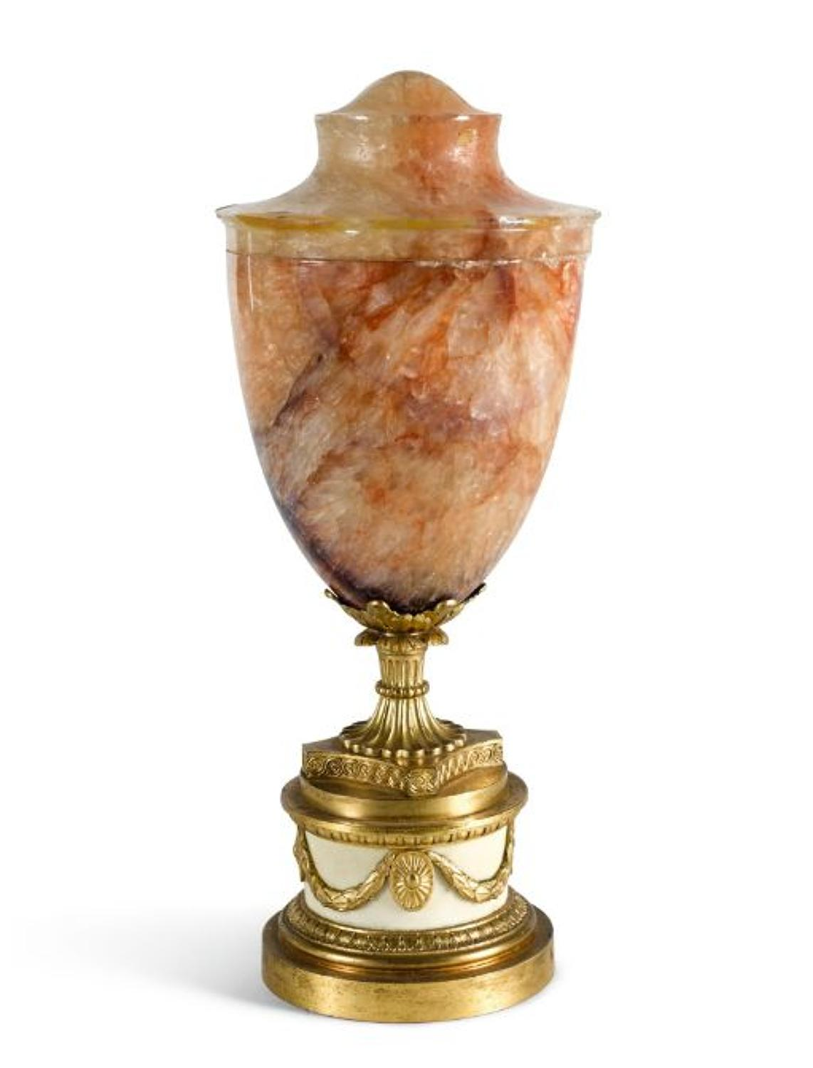A George III Blue John Urn,Late 18Th Century.