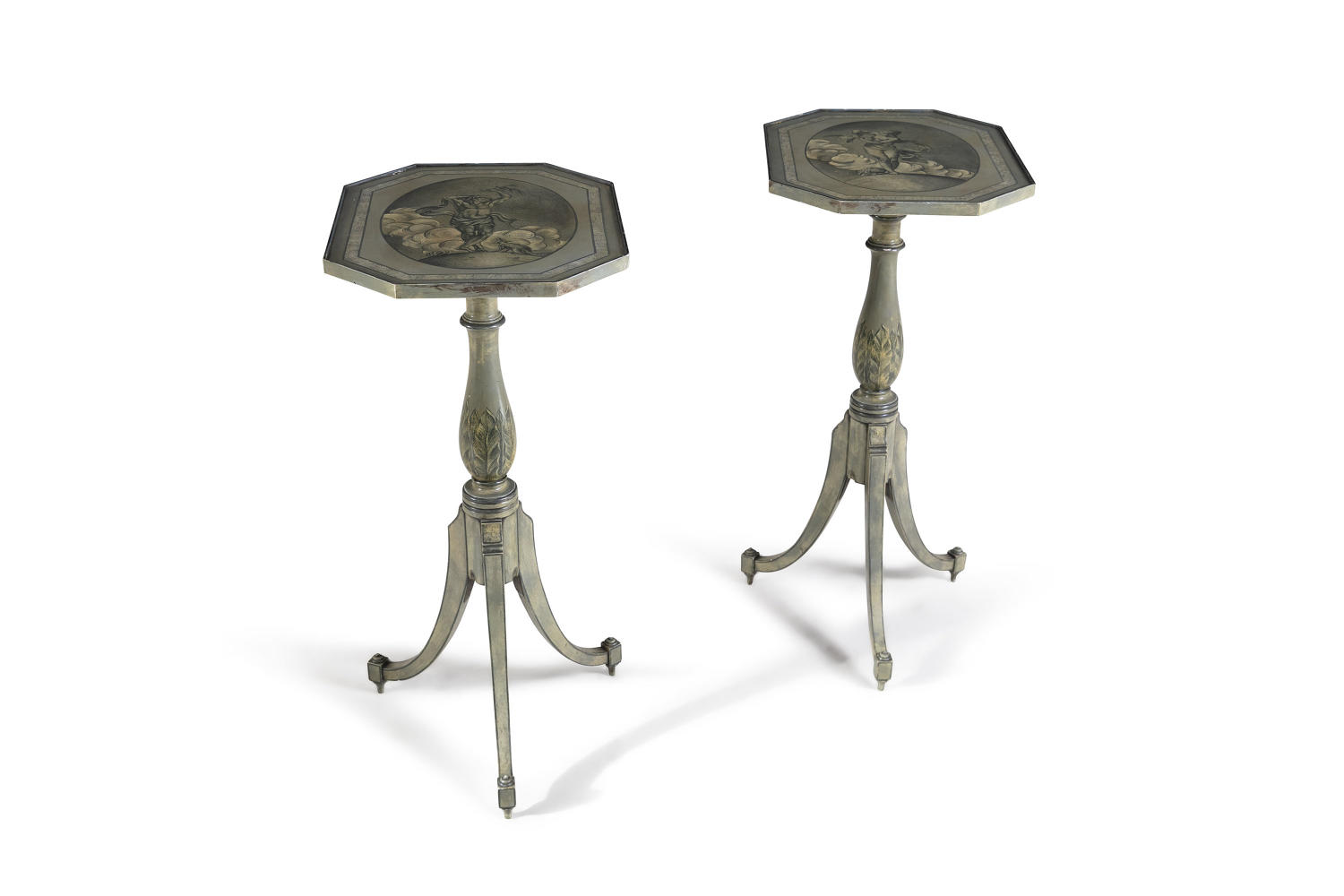 A Pair of George III Tilt top Tables