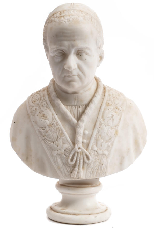 A 19TH Century Marble bust of Pope Gregory XVI (1831-1846)