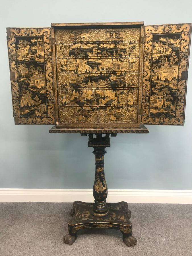 Superb Early 19Th Century Chinese Export Cabinet on stand