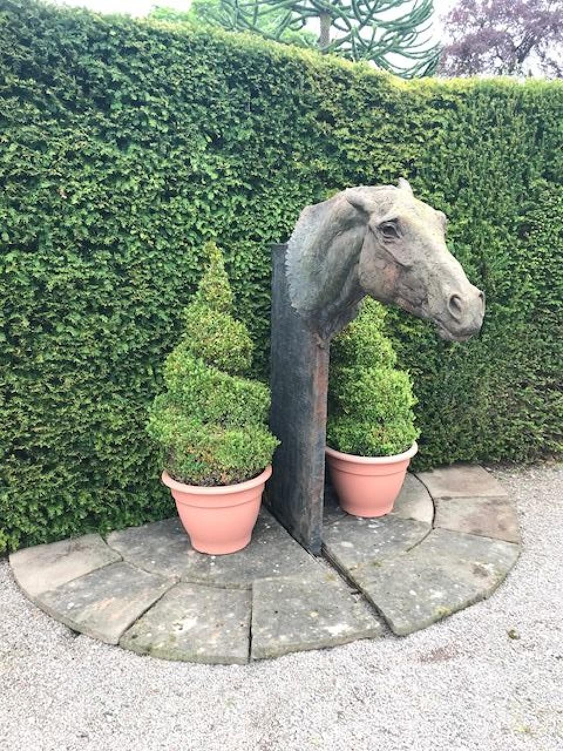 Lucy Kinsella,Life Size Resin Bronze of A Horses Head