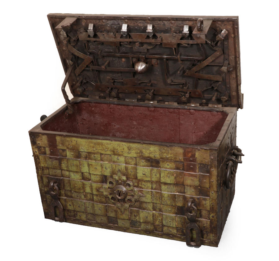 A 17Th Century Iron Armada chest