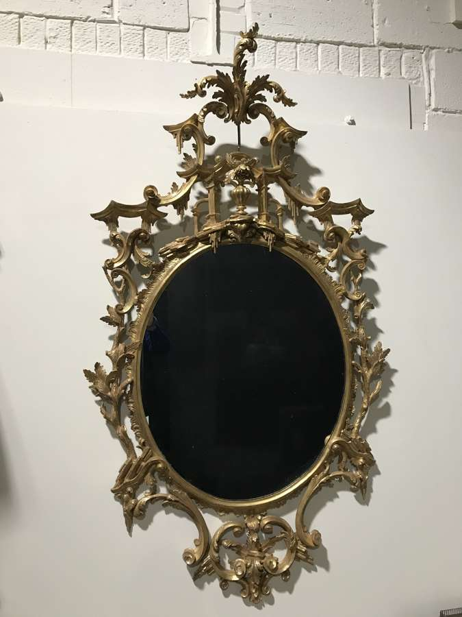 An Important 18TH Century Giltwood Mirror attrib to THOMAS JOHNSON