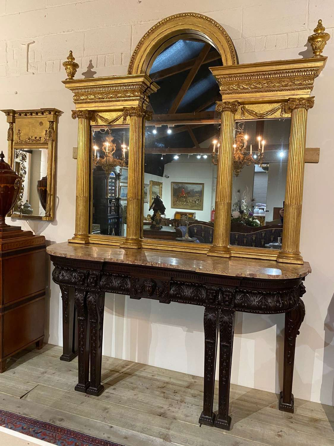 An Important 18Th C Irish Overmantle  Mirror attrib to Booker Dublin