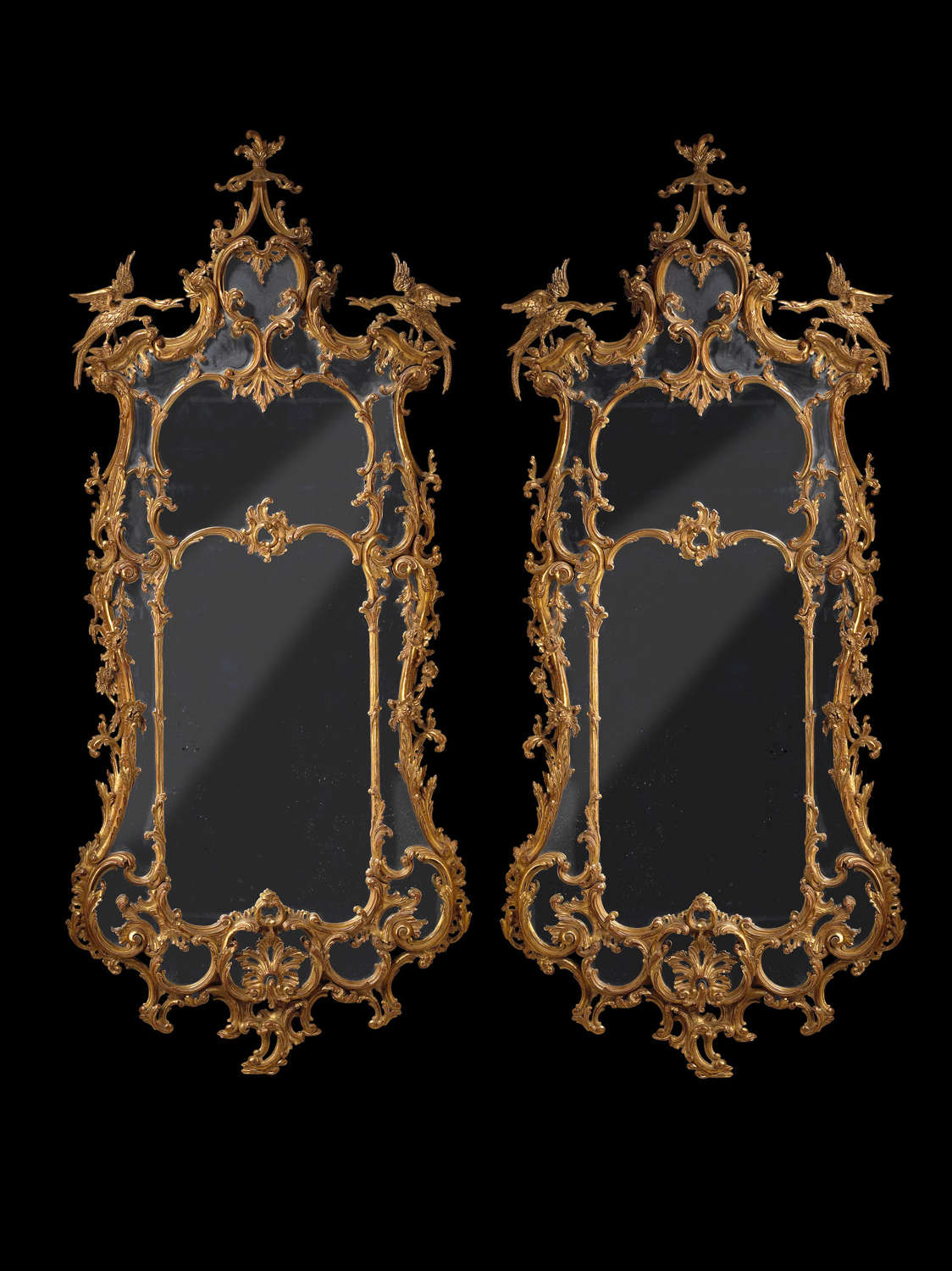 A pair of George 111 Carved Giltwood Mirrors . circa 1760irrors