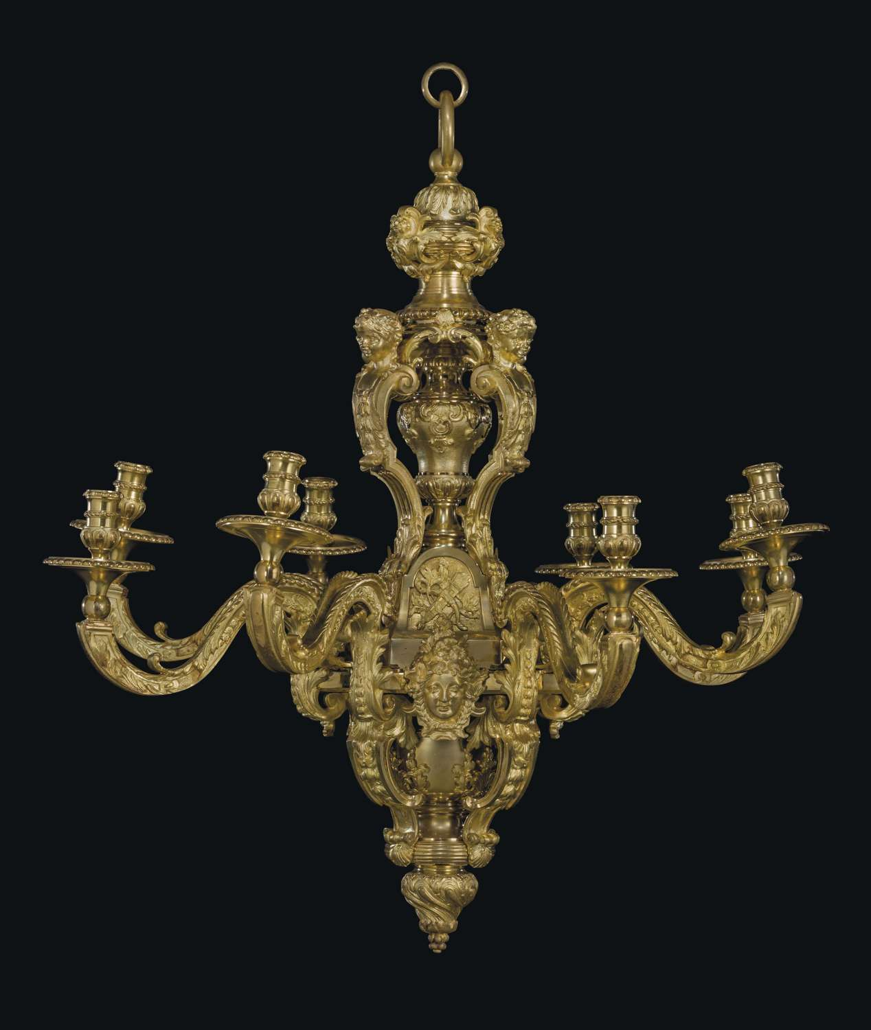 A Pair of French Late 19Th C Ormulu 8 Branch Chandeliers